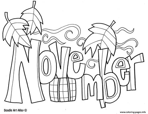 november printable banner november month coloring pages printable