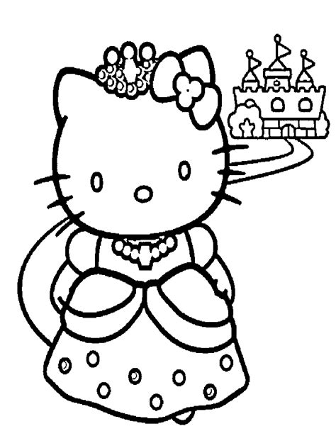 Hello Kitty Drawings Coloring Home Princess Drawing Free Coloring Sheets