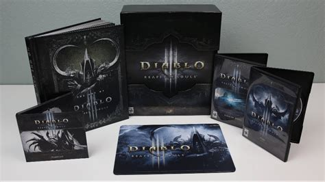 Souls 1 2 Limited Edtion Artbook diablo 3 reaper of souls collectors edition unboxing