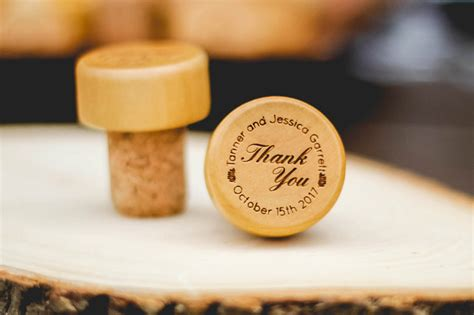Wedding Favors Wine Stopper by Thank You Personalized Wine Stopper