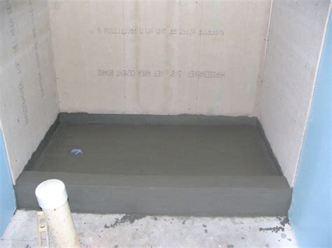 shower bed how to finish a basement bathroom mortar bed tile shower pan