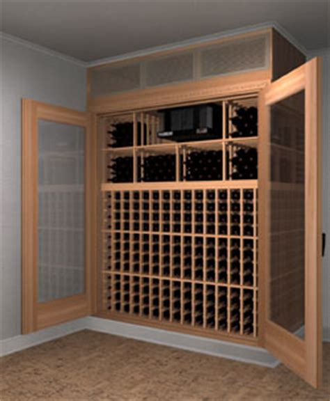 press release space saving custom built in wine cabinets