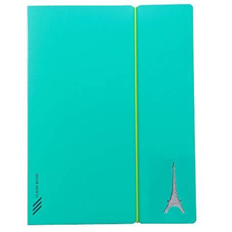 Display Book Garden 20 Sheet kobest 20 pocket bound sheet protector presentation book display book 40 page capacity with a