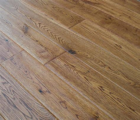 china oak hardwood hand scraped flooring gunstock color