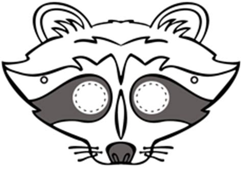 printable raccoon mask for the kids skedaddle