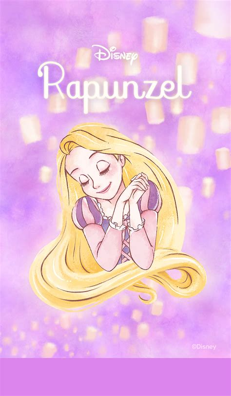 theme line rapunzel sweet and romantic phone wallpapers with disney princess