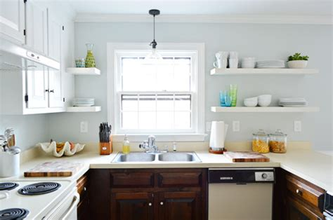 Kitchen Colors With Light Wood Cabinets Painting Our Upper Cabinets White Young House Love