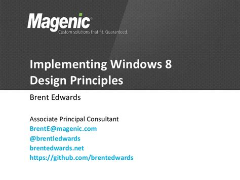 implementing windows 8 design principles