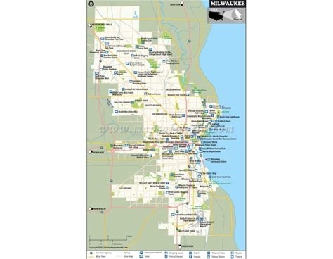 milwaukee map usa buy milwaukee city map wisconsin