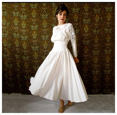 White Linen Wedding Dresses by Beautiful Vintage White Linen Wedding Dress With Cut Out