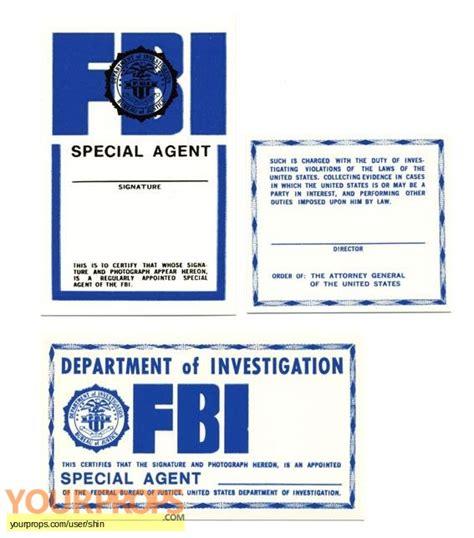 prop id card template the x files identification card of fbi original tv series prop