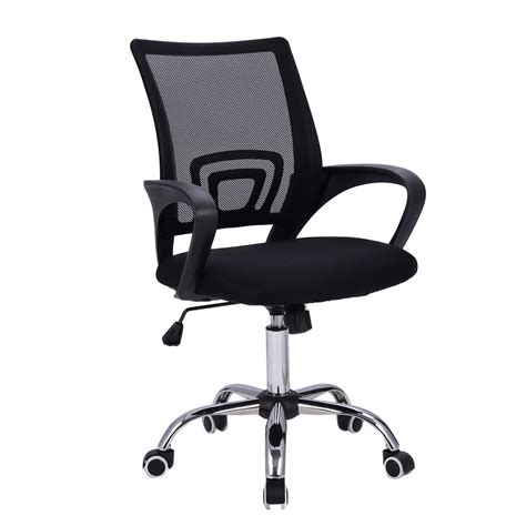Modern Mesh Mid Back Office Chair Computer Desk Task Ergonomic Computer Desk Chairs