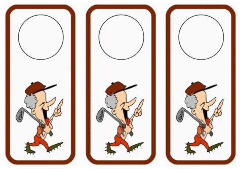 printable golf bookmarks golf door hangers birthday printable