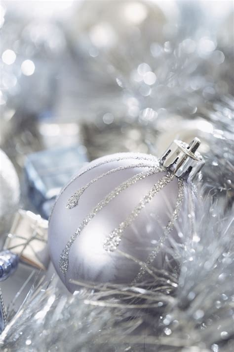 silver christmas decorations christmas photo 22229367