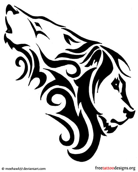 lion bear and wolf head tattoo designs real photo