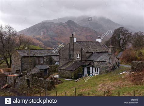 buy house lake district old lake district hill farm house and barn slate buildings dale end stock photo