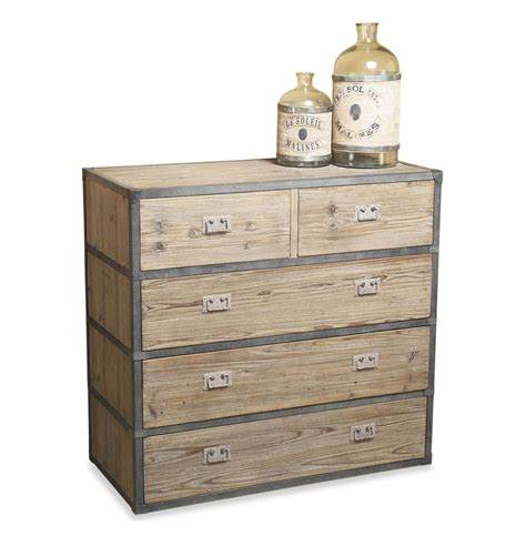 reclaimed wood dresser henshaw reclaimed wood iron modern rustic chest dresser