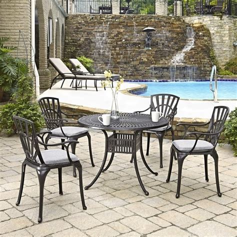 5 patio dining set with cushions in charcoal 5560 308c