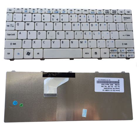 Keyboard Acer 532 White buy wholesale acer aspire one replacement parts