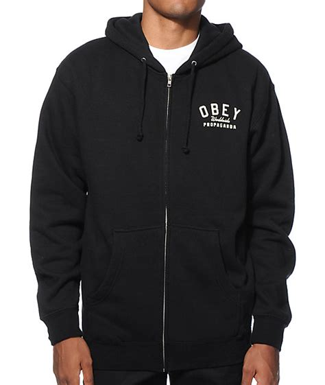 Hoodiezipper Obey obey worldwide propaganda zip up hoodie