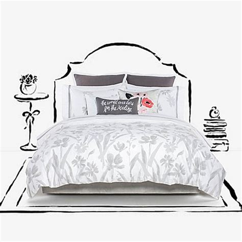 Kate Spade New York Brushstroke Garden Duvet Cover Set Kate Spade Bed Set