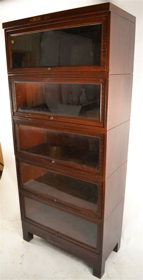 2 shelf barrister barrister bookcase mid century modern maple barrister