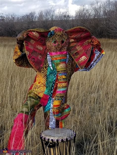 vibrant african elephant costume diy costumes