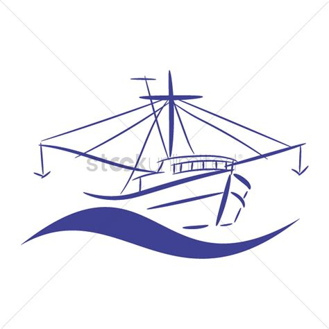 trawler boat clipart fishing trawler vector image 2035333 stockunlimited