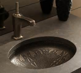 bronze undermount bathroom sink cast bronze sink new undermount lavatory sinks by kohler
