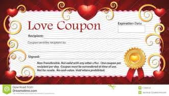 blank love coupon stock images image 17803154