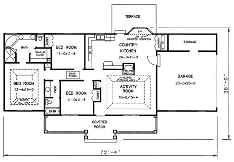 best retirement home floor plans open plan house plans