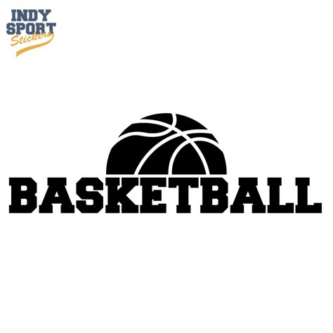 Door Designs by Half Basketball Silhouette With Text Below Indy Sport