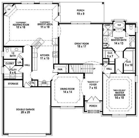 5 Bedroom 3 1 2 Bath Floor Plans | 654193 french country 3 bedroom 2 5 bath house plan