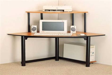 how to a corner computer desk corner computer armoires for small space