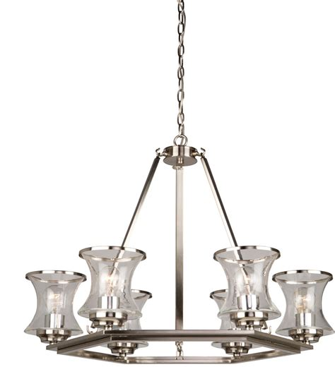 Nickel Chandelier Artcraft Ac10236bn Dorsett Contemporary Brushed Nickel