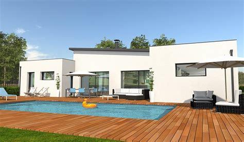 Photo Maison Contemporaine Plain Pied Maison Moderne maison contemporaine de plain pied 132 m 178 4 chambres