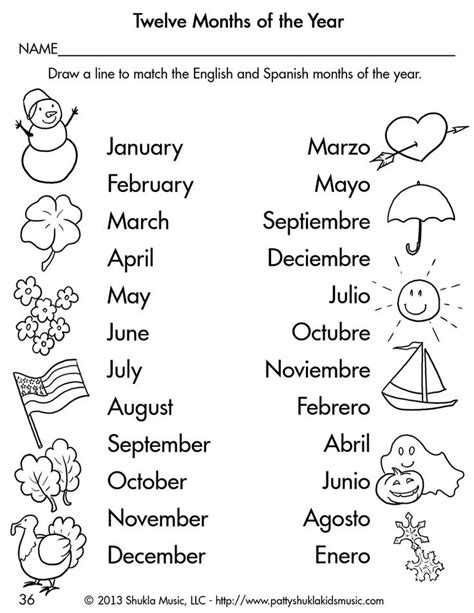spanish english classes spanish days of the week worksheet kindergarten 1000