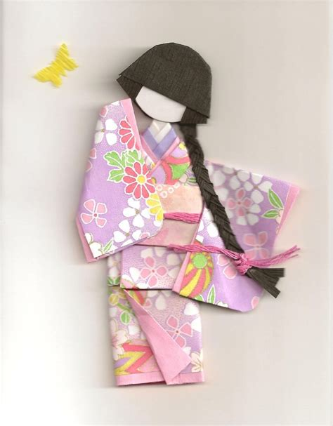 Origami Paper Dolls - 328 best origami kimono images on geishas