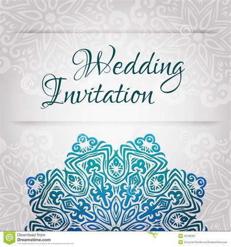 lacy vector wedding card template vintage wedding invitation abstract circle floral - Wedding Invitation Ornament Circles