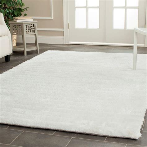 8 x 10 ft area rugs safavieh 3d shag pearl 8 ft x 10 ft area rug sg554a 8 the home depot