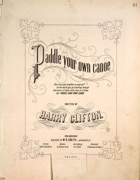 Pdf Paddle Your Own Canoe Liquor 176 009 paddle your own canoe levy collection
