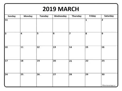 printable calendar april 2018 to march 2019 march calendar 2019 printable and free blank calendar