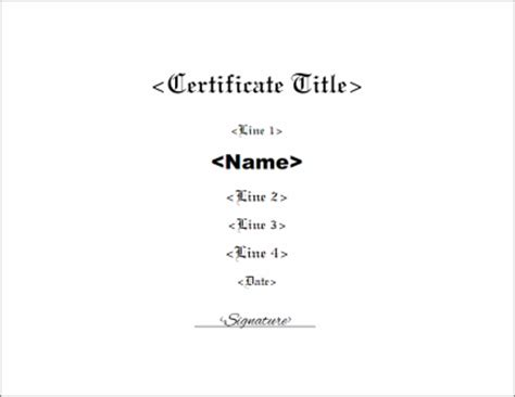 make your own certificate template create your own certificate