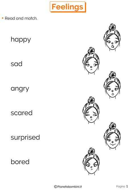 delle emozioni schede didattiche emozioni in inglese schede didattiche per la scuola