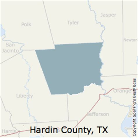 hardin county texas map best places to live in hardin county texas