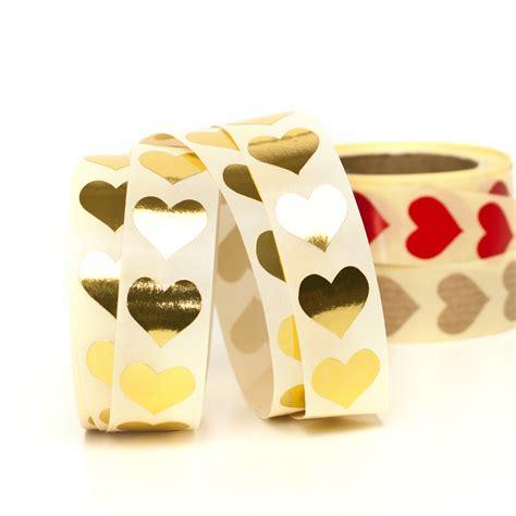 Kleine Aufkleber Hochzeit by Aufkleber Herzen Gold Herz Sticker Hochzeit Kaufen