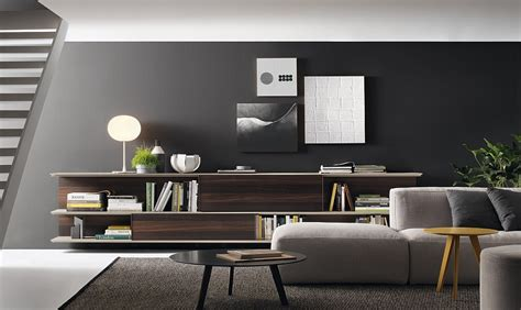 living room wall unit blends trendy design and style with
