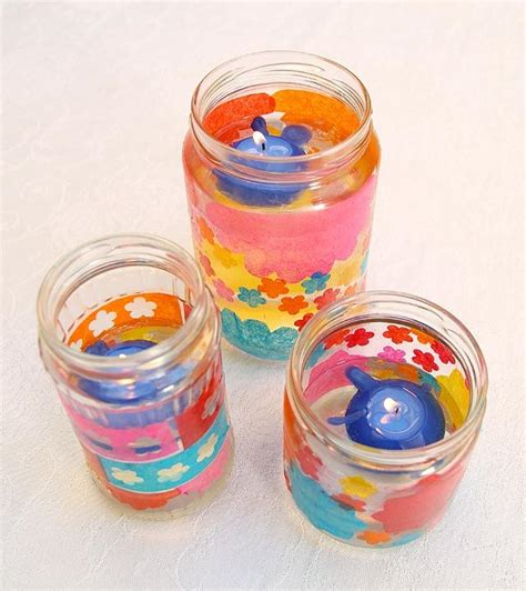 Decoupage Candle Jars - decoupage photos on candles