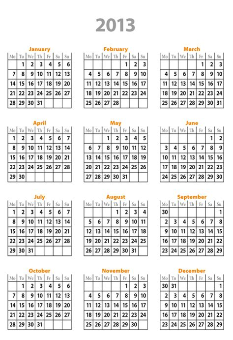 best photos of free calendar templates 2013 excel 2013