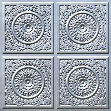 Buy Tin Ceiling Tiles by Tin Ceiling Tiles 2x2 Flat 117 Silver Cheapest Decorative Plastic Ul Can Be Glued On Nail